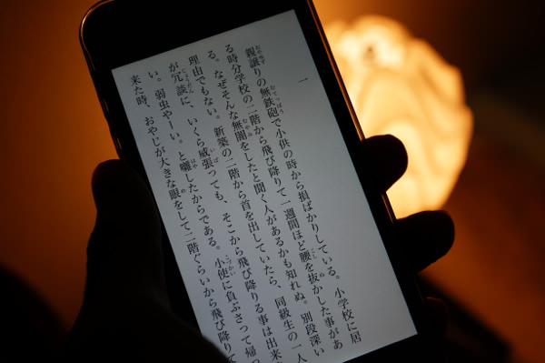 iPhoneで電子書籍2