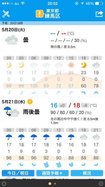 天気アプリ5