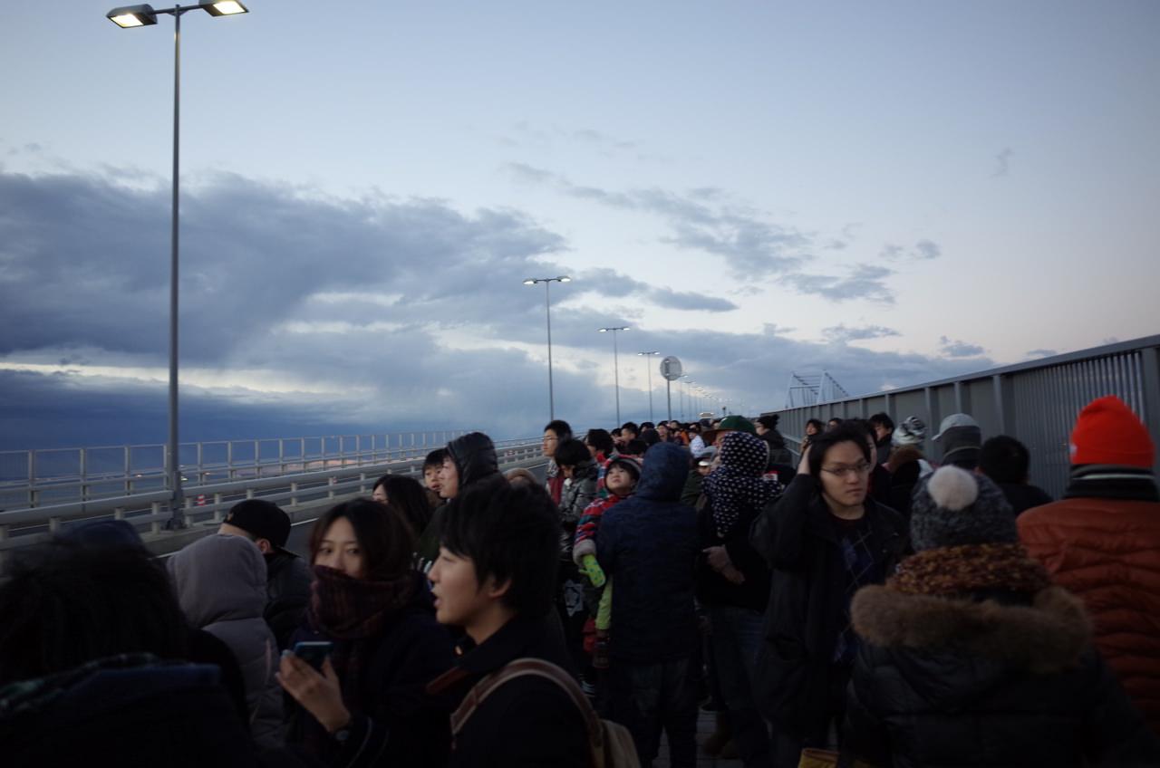 東京ゲートブリッジと初日の出5